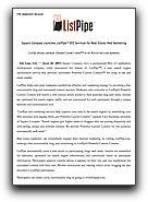 ListPipe Press Release