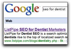 List Pipe SEO for Dentists
